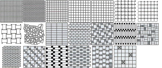 шаблон с рисунком мозаики